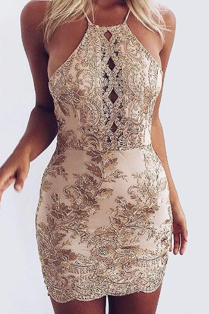 коктейльные платья розовый с золотом