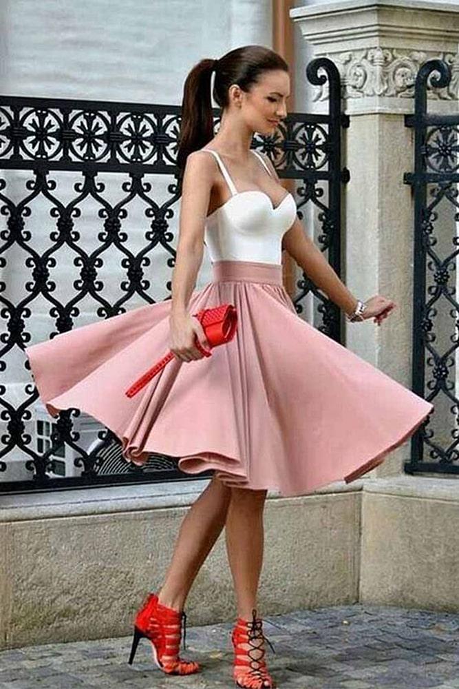 коктейльные платья юбка клеш