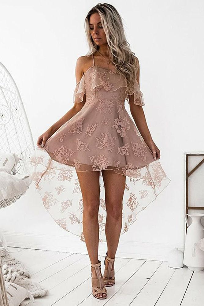 коктейльные платья нюдовый