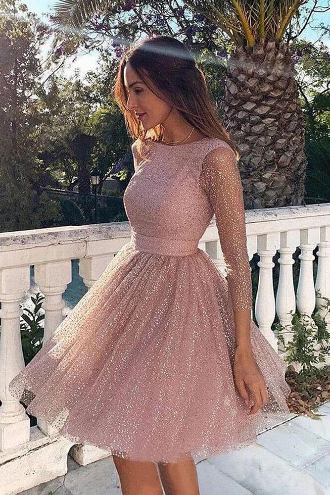 коктейльные платья нежно-розовое