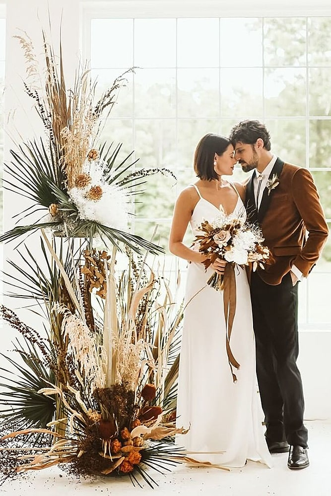 декор свадьбы минималистичный бохо декор