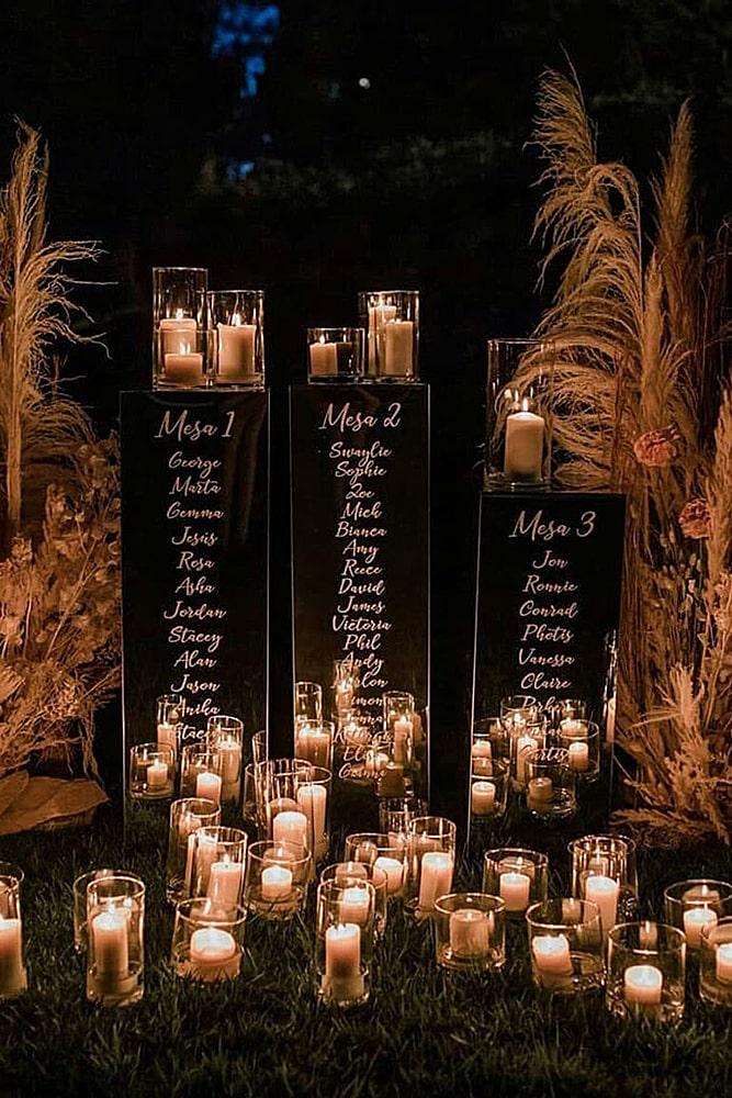 декор свадьбы свечи