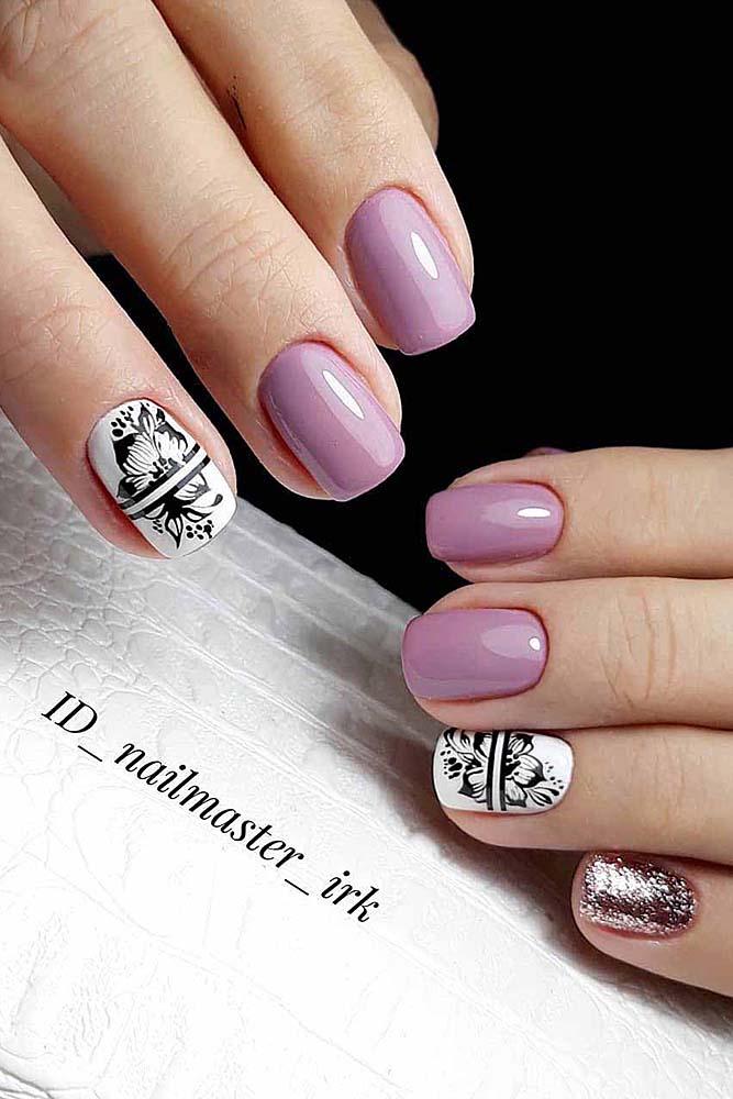модный маникюр короткие ногти