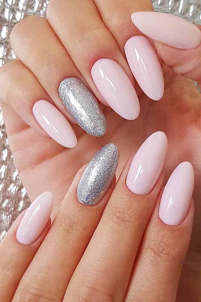 модный маникюр розовый серебро