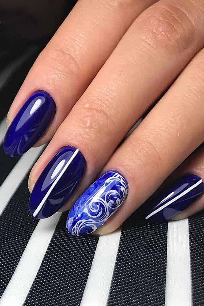 модный маникюр фиолет