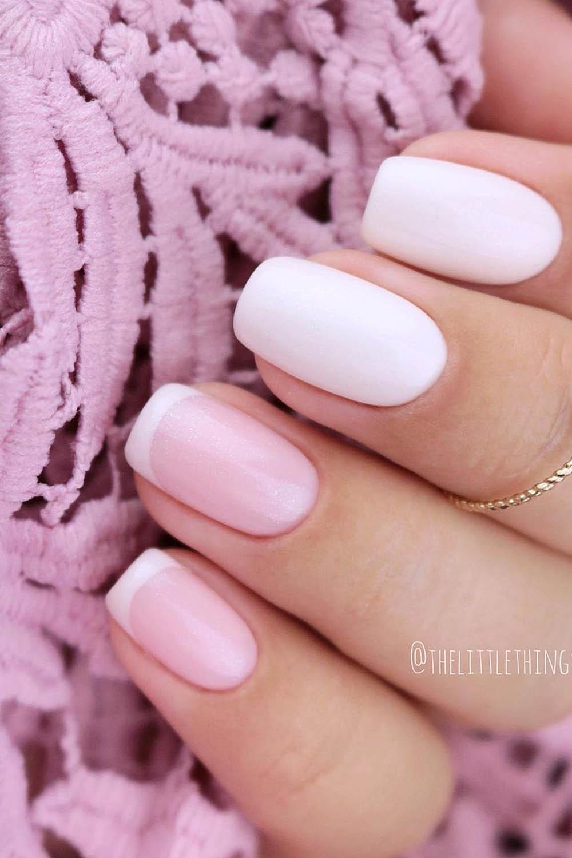 модный маникюр розовый