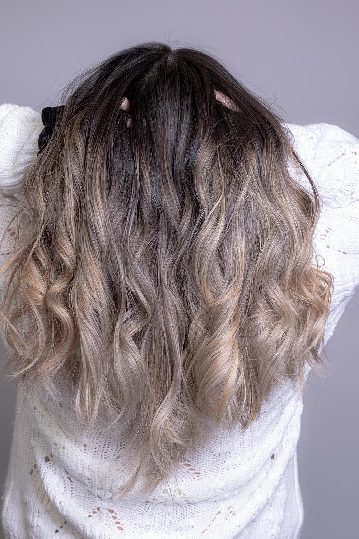 выпадение волос длинные кудрявые волосы балаяж